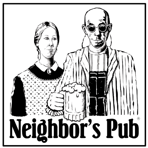 Neighbor's Pub logo scroll