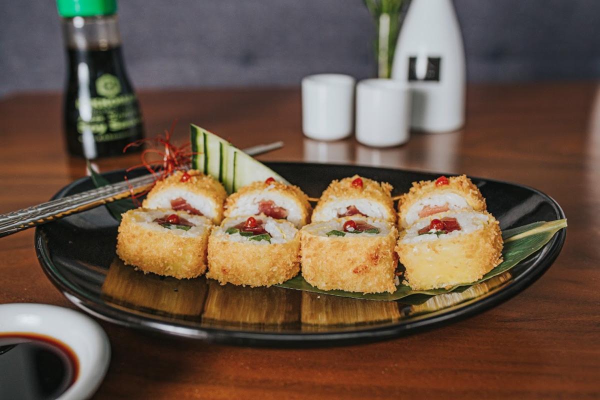 Decorated sushi