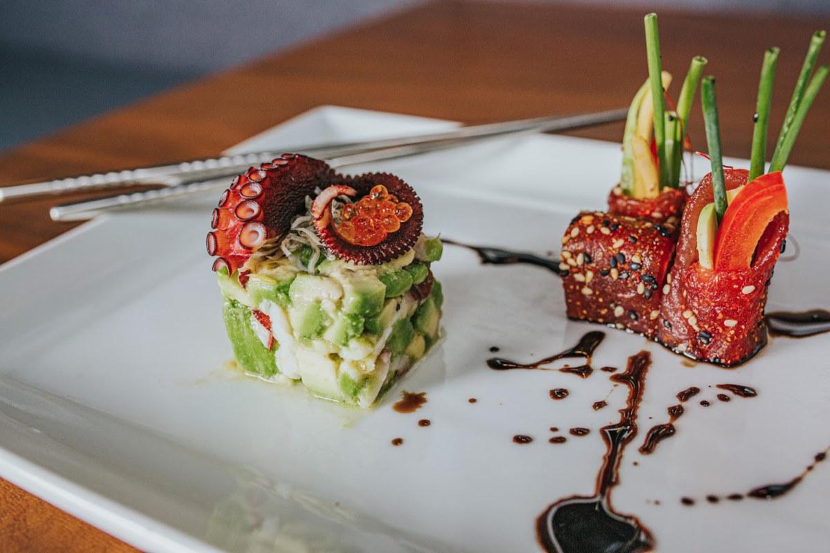 Decorated sea food