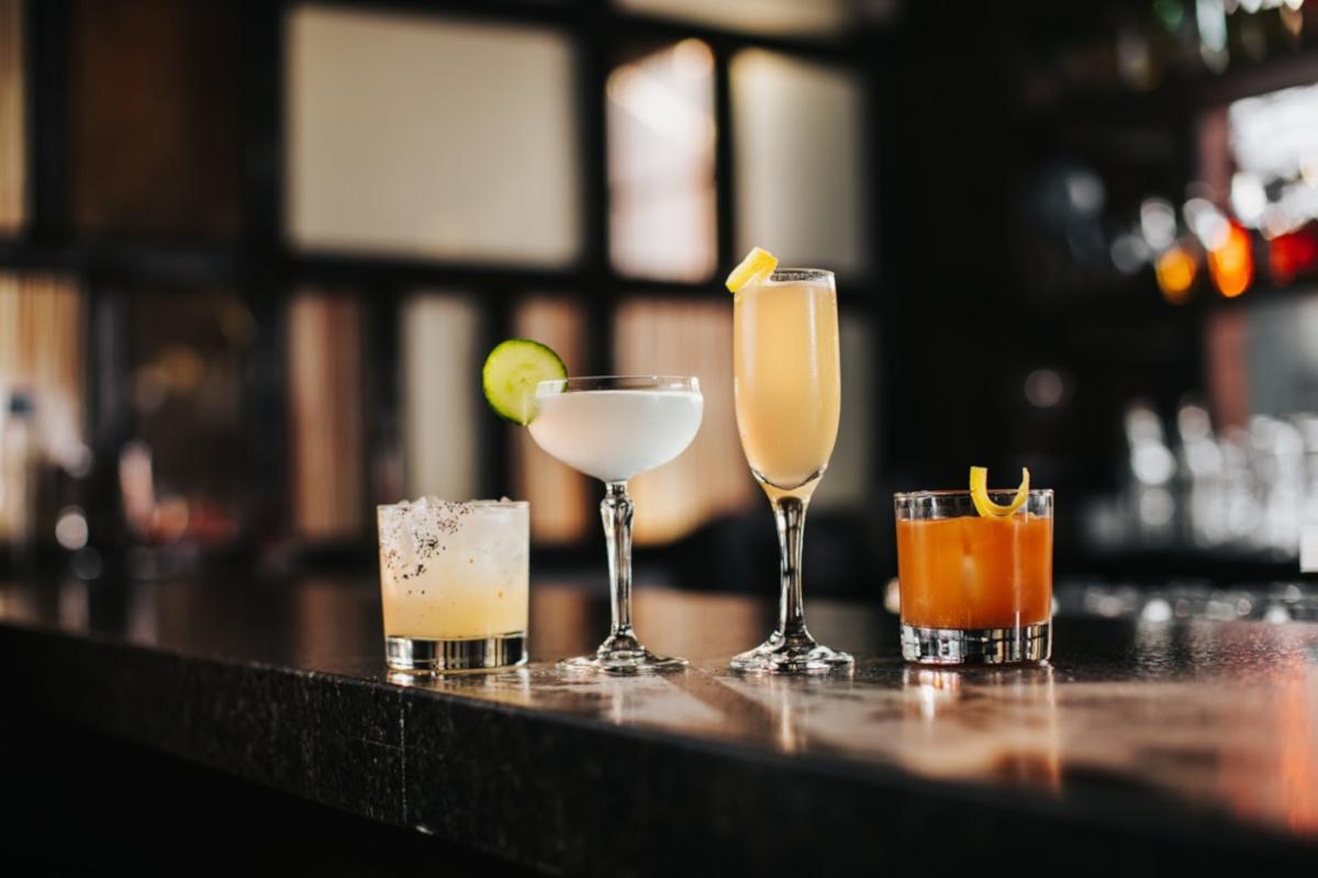 Four cocktail closeup