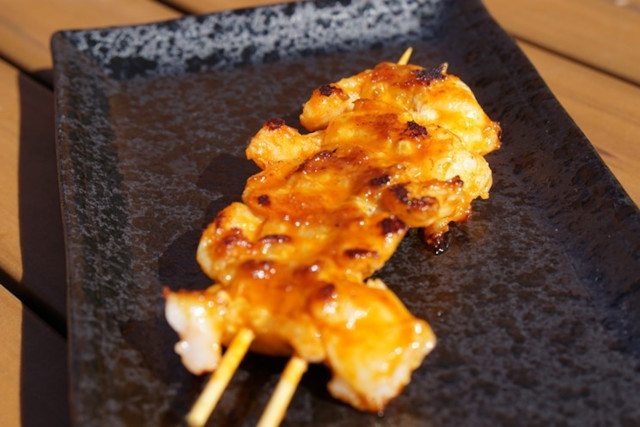 shrimp skewer niwa bbq