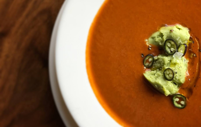 image of avocado soup