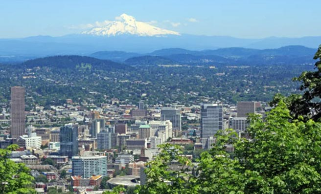 photo of Portland's panorama