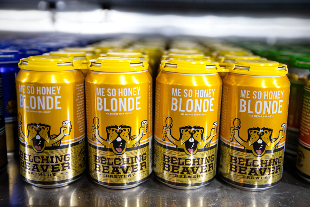 Me so honey blond beer cans