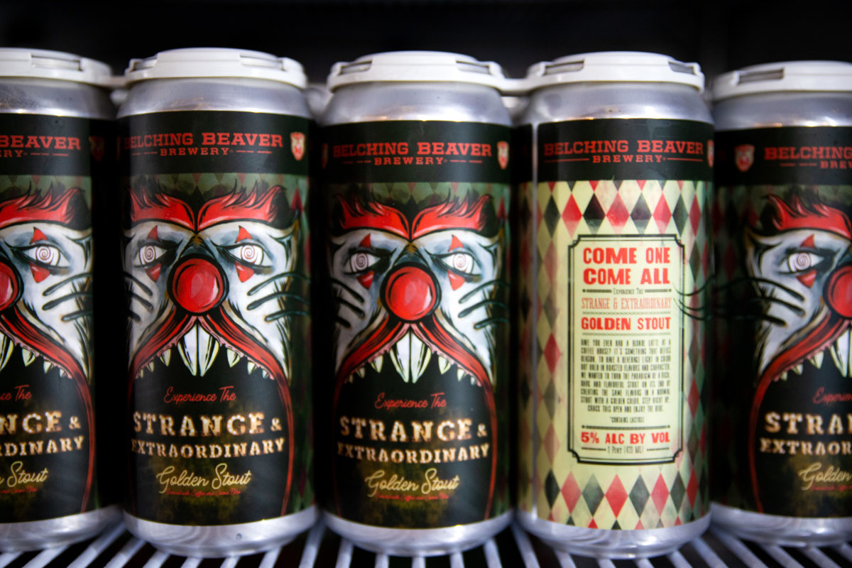 Stranhe and extraoridnary stout beer cans