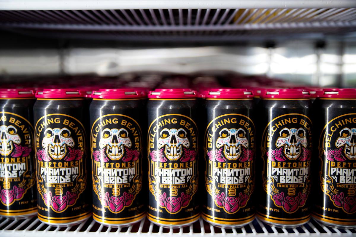Phantom bride beer cans