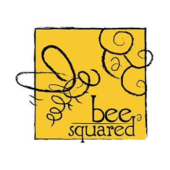bee squared honey logo