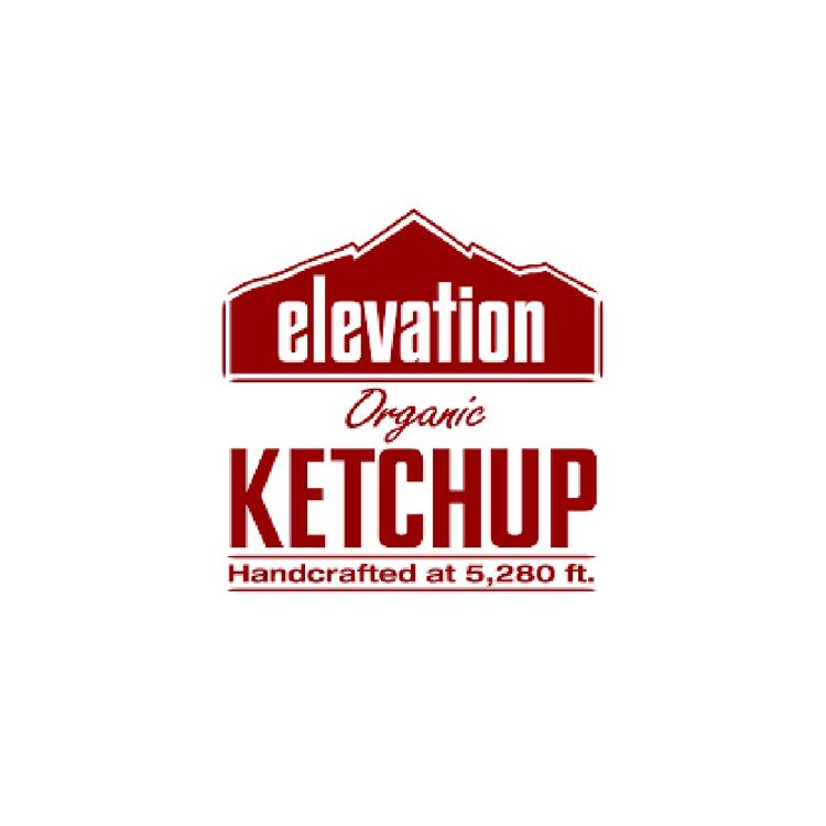 elevation organic ketchup logo