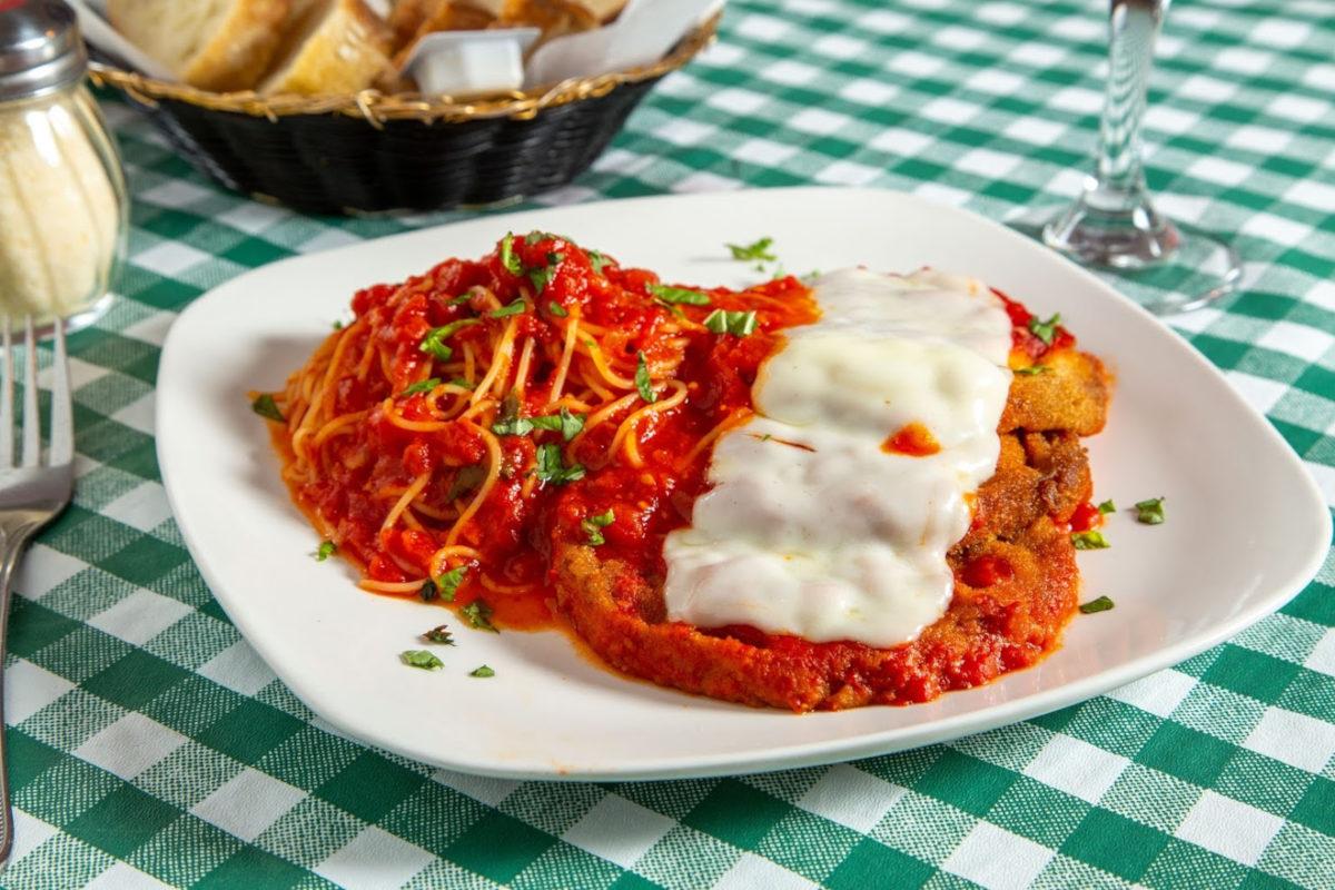 Spaghetti with cream