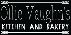 Ollie Vaughn's Kitchen and Bakery logo scroll