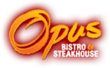 Opus Bistro & Steakhouse logo scroll