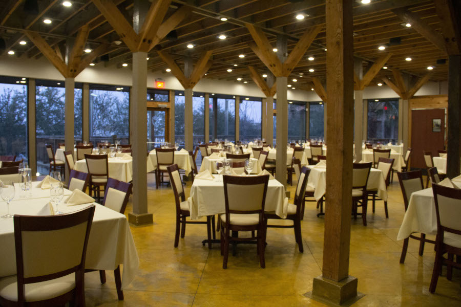 Restaurant interior, tables ready for the guests