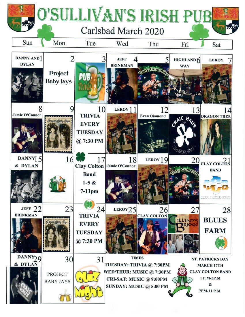 march music calendar