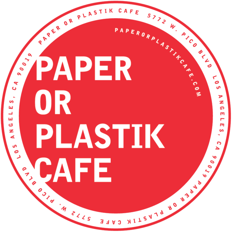 Paper or Plastik Cafe logo top