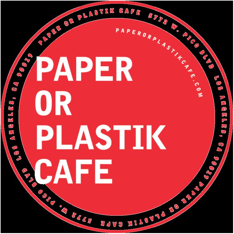Paper or Plastik Cafe logo top
