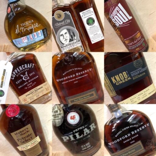 various spirit drinks