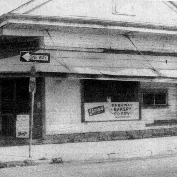 Old photo of restaurant exterior