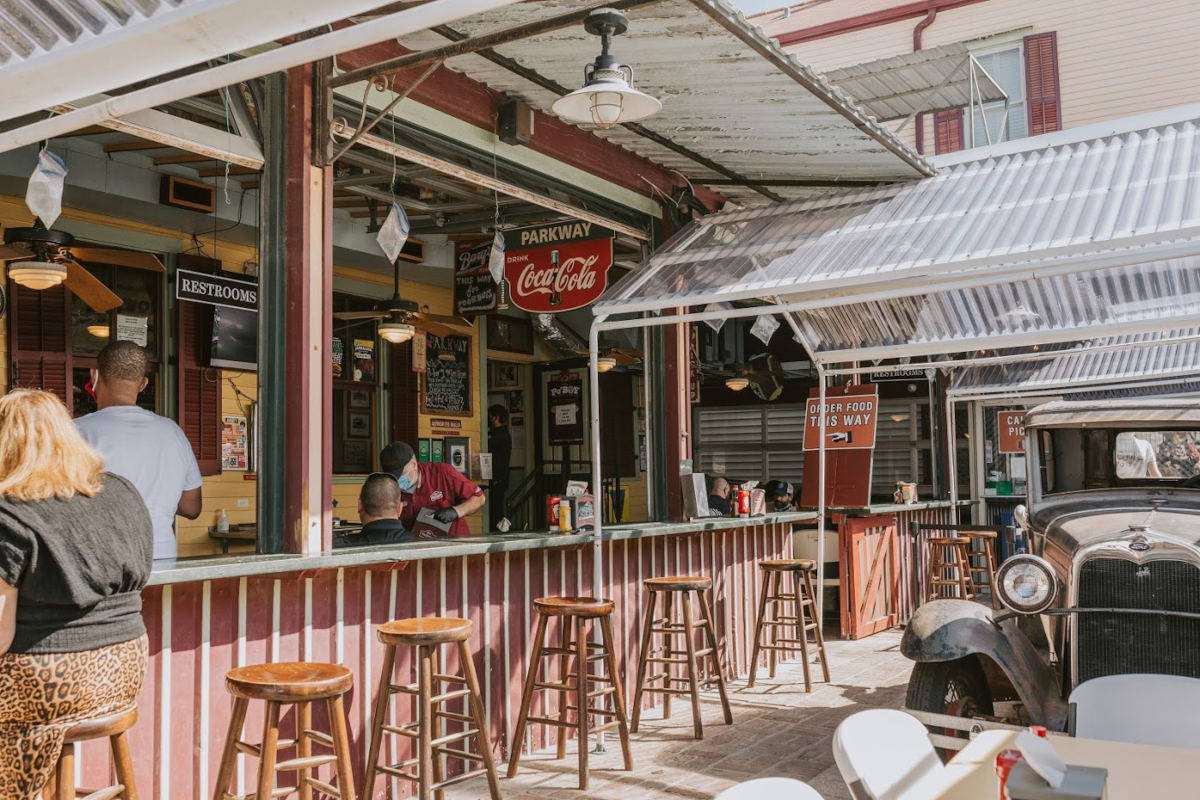 Exterior, bar area