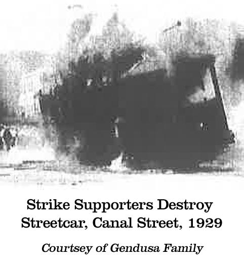 Strike Supporters Destroy Streetcar 1929