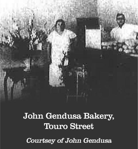 John Gendusa Bakery, Touro Street