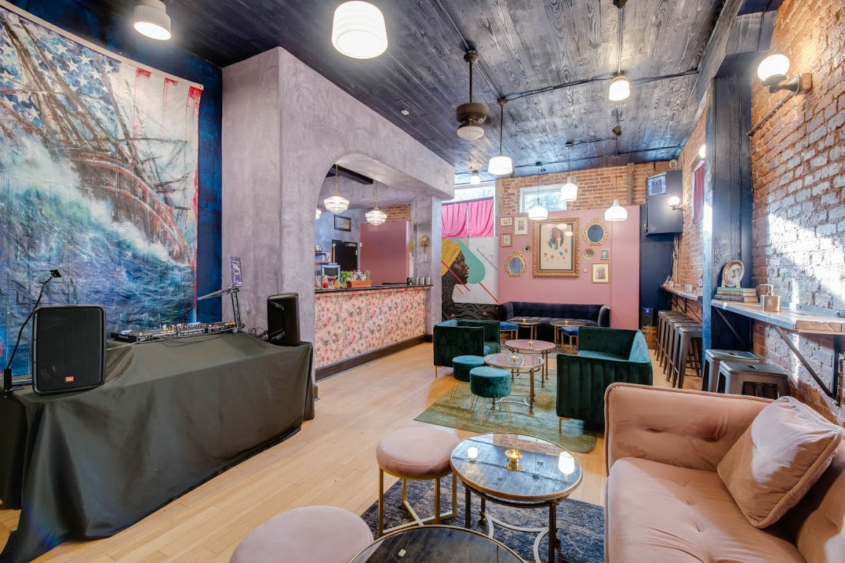 Interior, bar area on the left