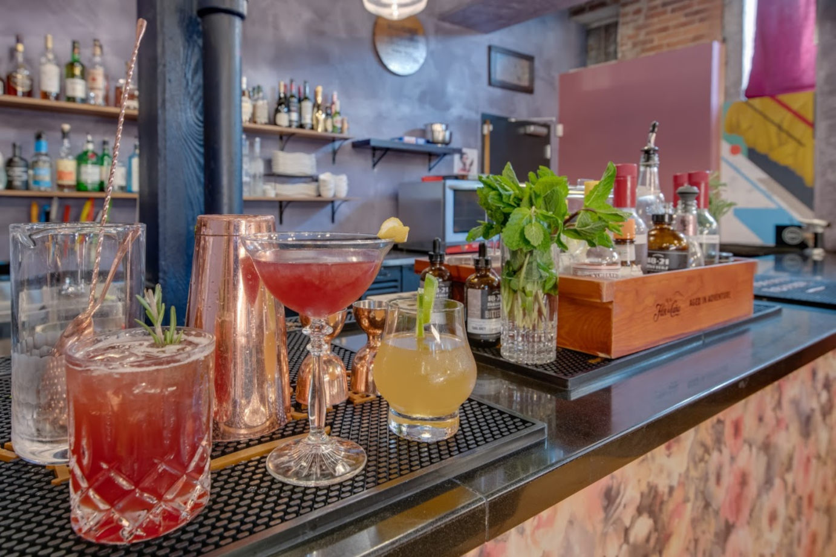 Cocktails, bar area