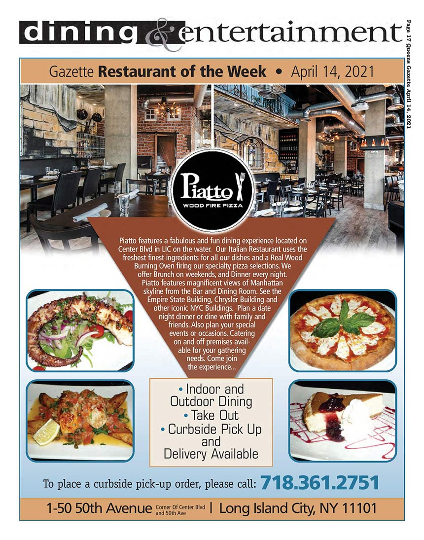 restaurant of the week title page
