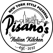 Pisano's Pizzeria & Italian Kitchen logo scroll