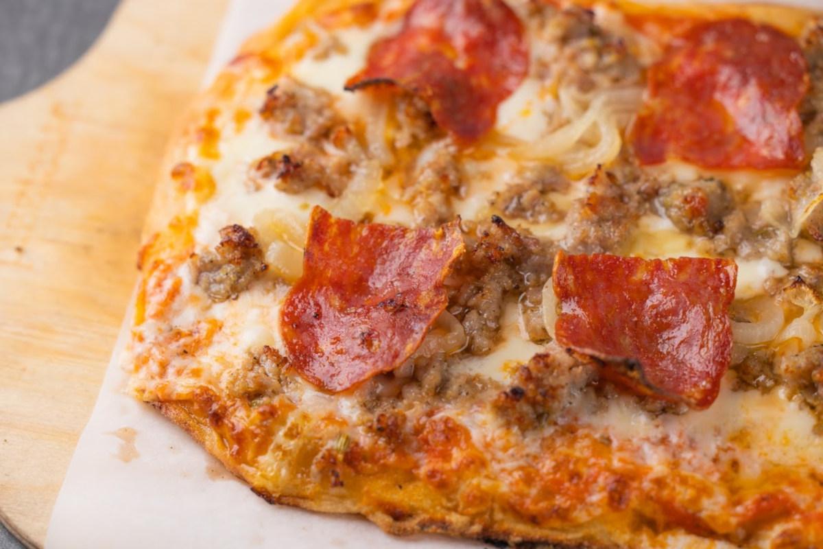 Pizza, closeup