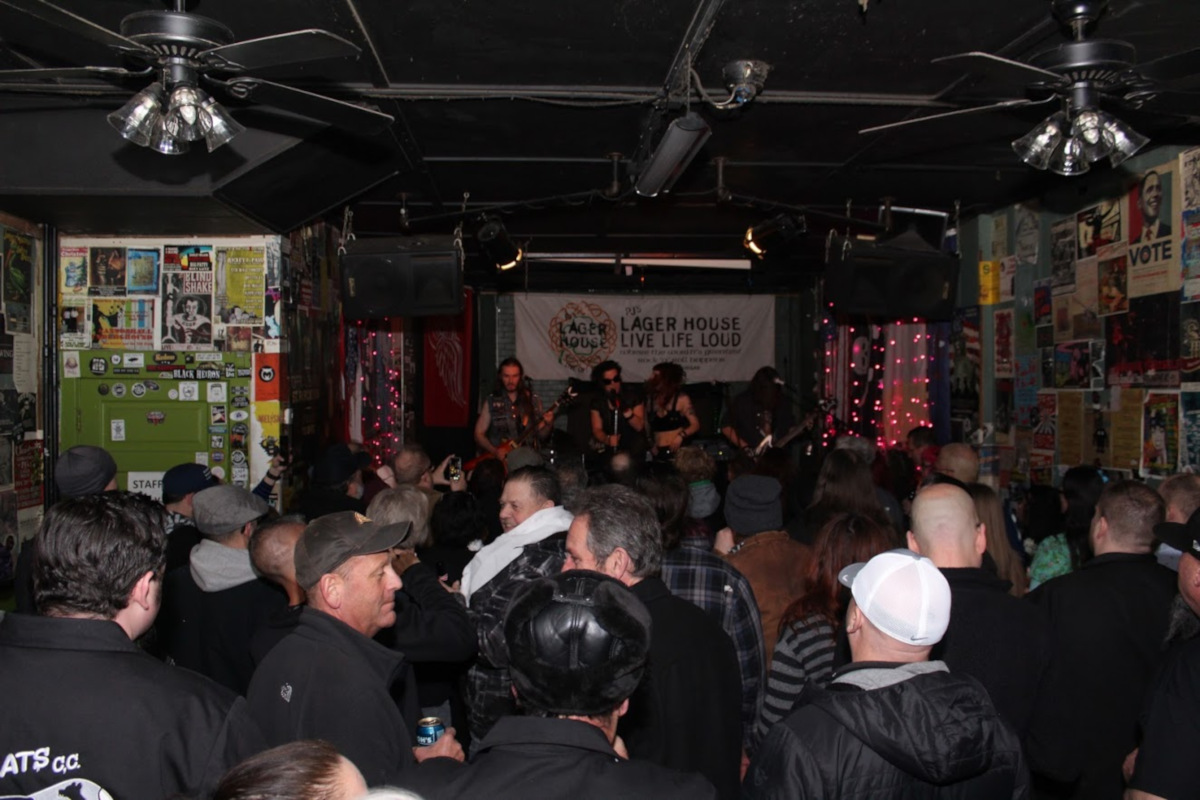 Interior, crowd during a gig