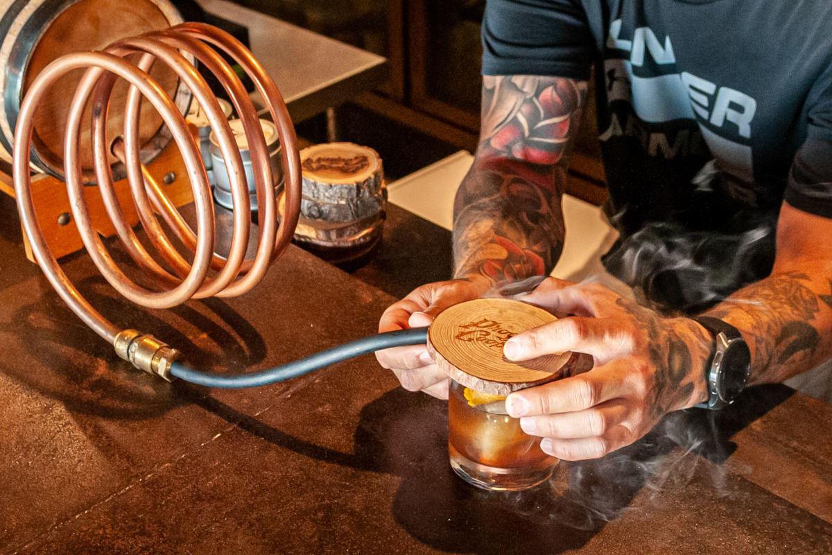 oak smoked old fashioned