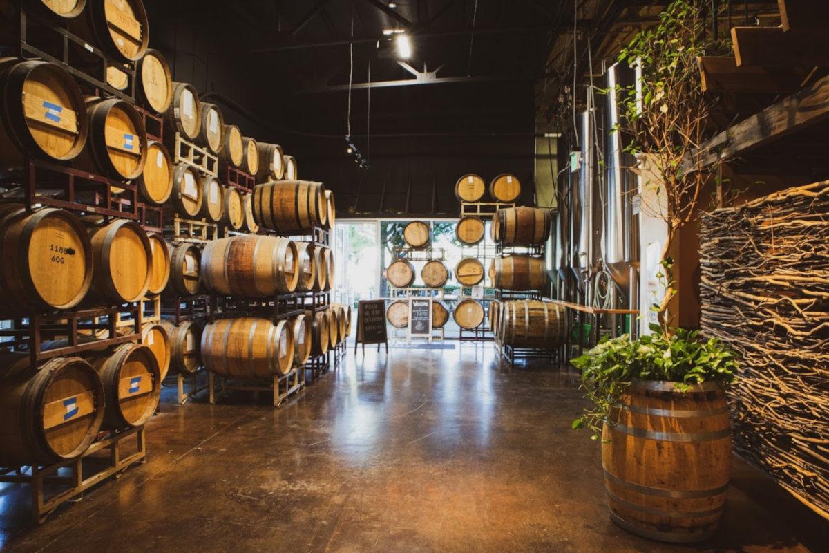 Interior, beer barrels
