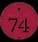 Public 74 logo top