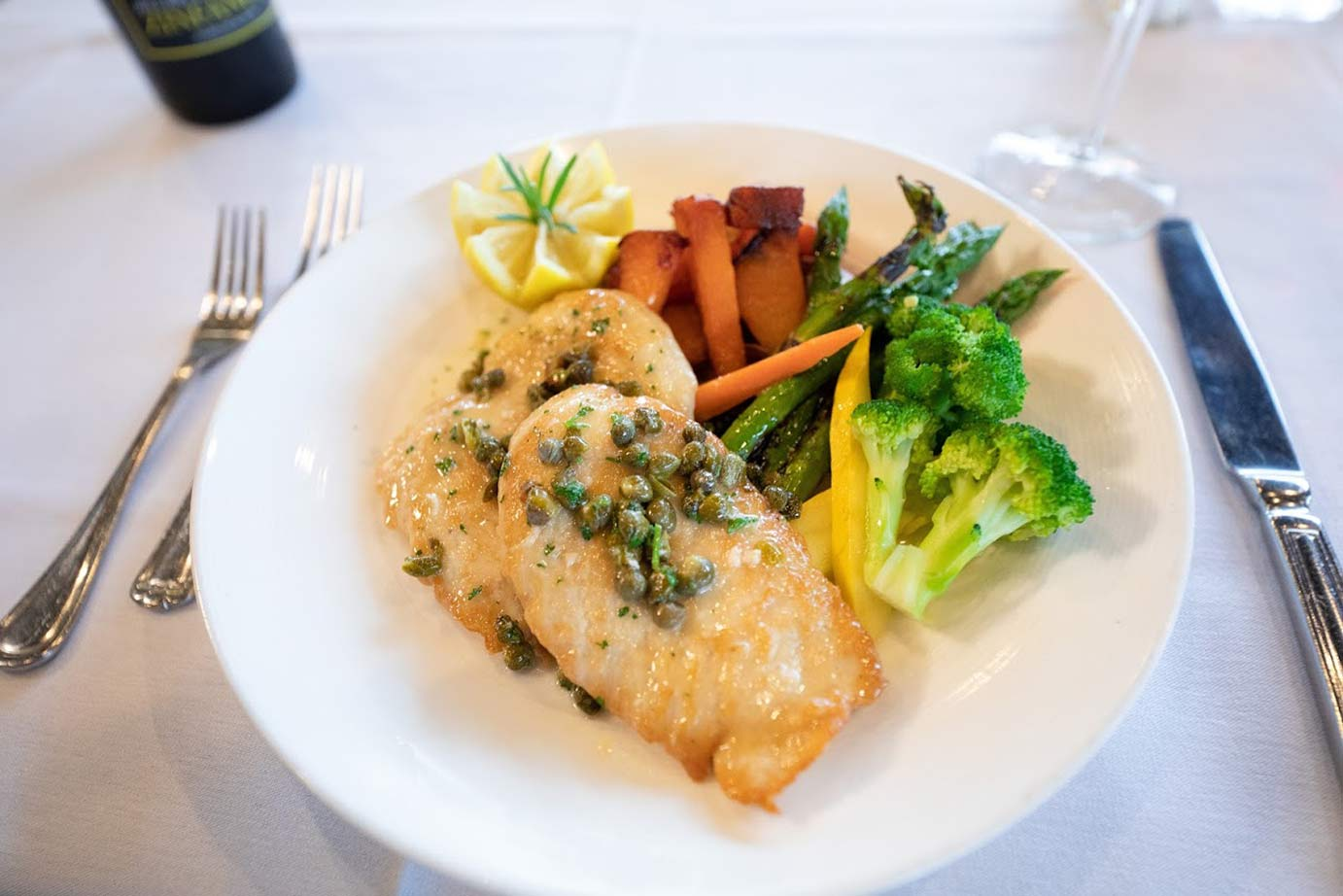 photo of chicken fillet with vegetables