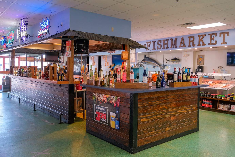 Bar inside a restaurant