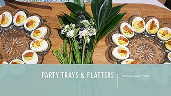 party trays & platters