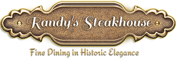 Randy's Steakhouse logo scroll