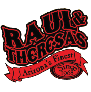 Raul and Theresa Mexican logo scroll