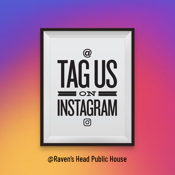 tag us on instagram photo