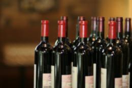 wine bottles photo