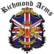 Richmond Arms Pub logo scroll