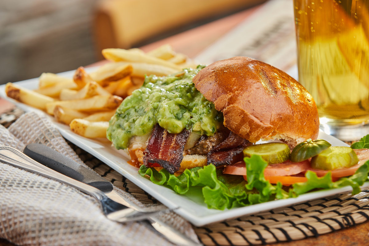 traditional burger