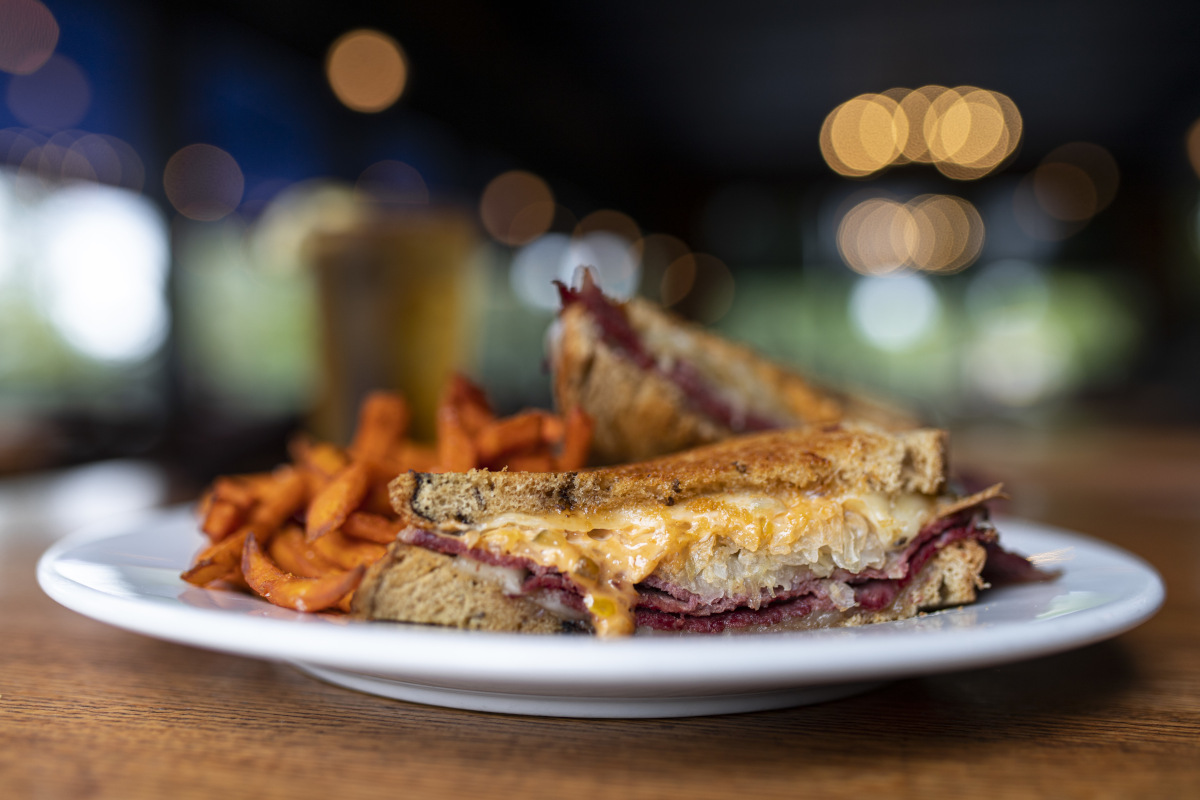 Rueben, a classic with Sauerkraut on Rye