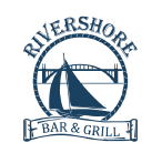 Rivershore Bar & Grill logo scroll