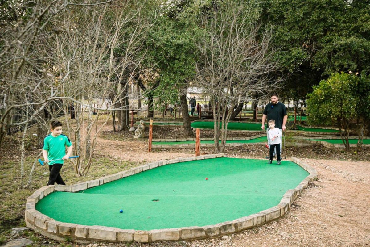 Mini golf area