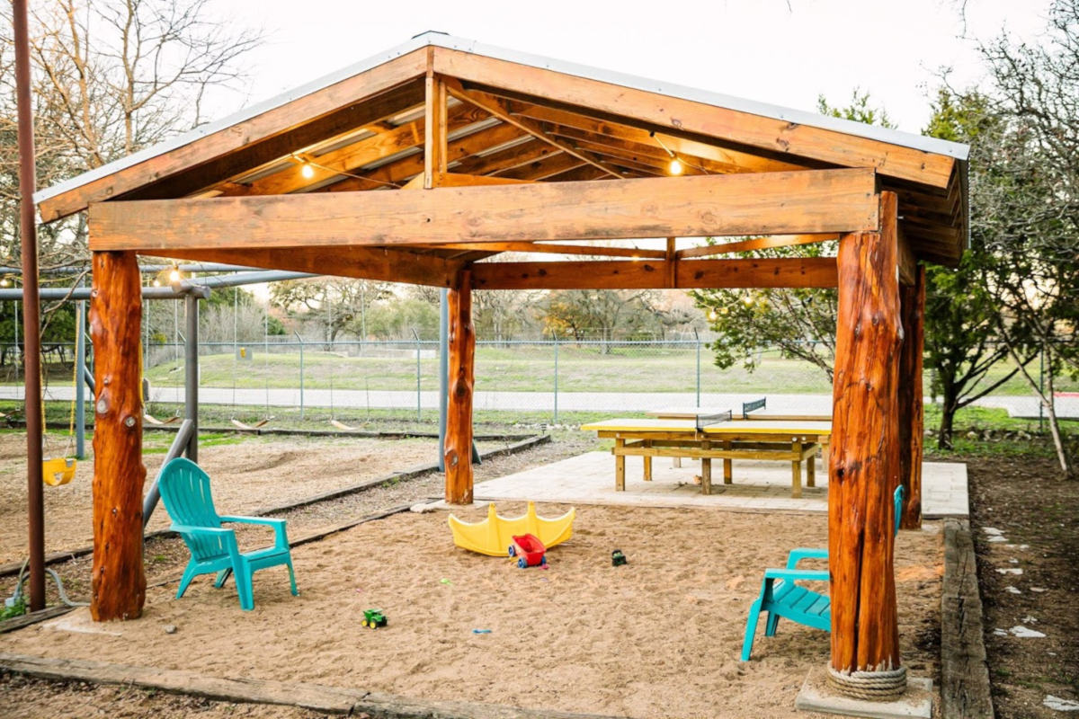 Exterior, sand for kids area