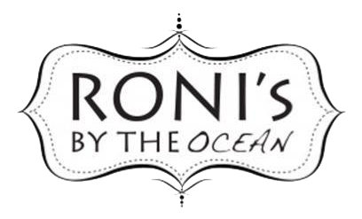 Roni's by the Ocean logo top
