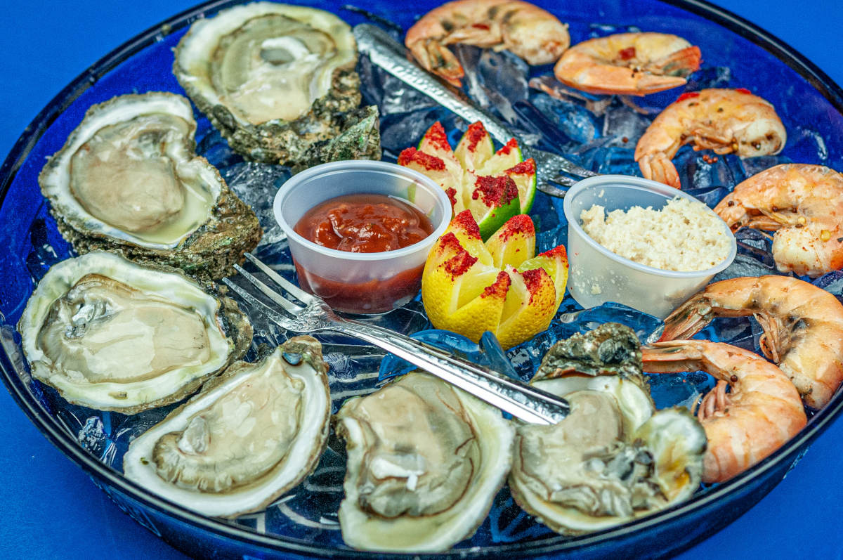 oysters, shrimp