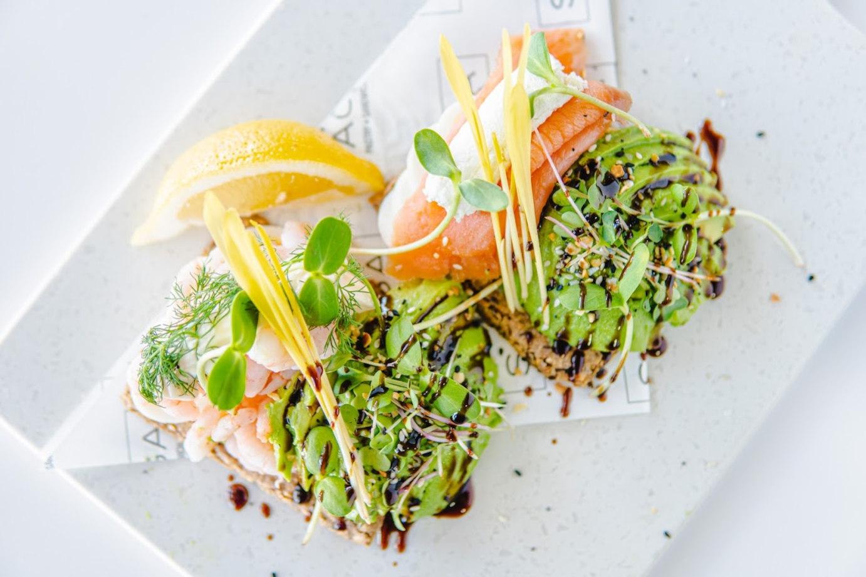 Fresh salmon avocado toast