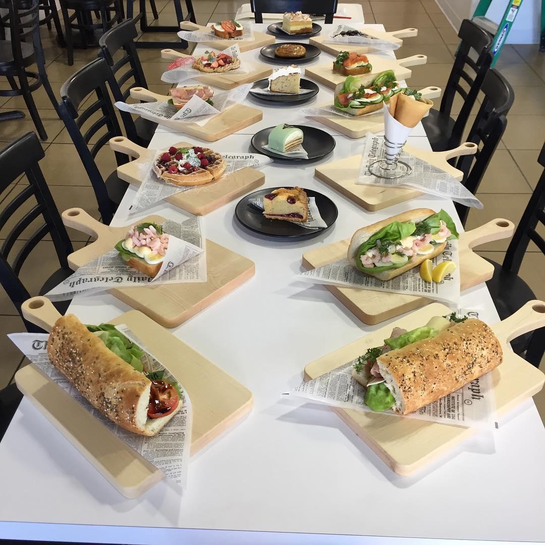 Saga Pastry + Sandwich dinner table